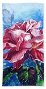 Rose Beach Towel by Zaira Dzhaubaeva