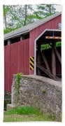 Rosehill Covered Bridge Beach Towel
