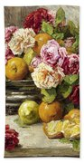 Roses And Fruit Beach Towel