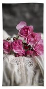 Roses And Lace Beach Towel