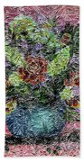 Roses And White Lilacs Digital Painting Beach Towel