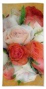 Roses Antiqua Beach Towel