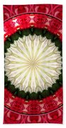 Roses Kaleidoscope Under Glass 19 Beach Towel