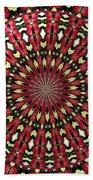 Roses Kaleidoscope Under Glass 21 Beach Towel