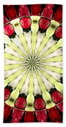 Roses Kaleidoscope Under Glass 23 Beach Towel