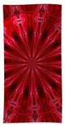 Roses Kaleidoscope Under Glass 26 Beach Towel