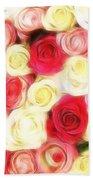 Roses Of Love Beach Towel