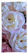 Roses On The Veranda Beach Towel