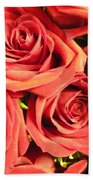 Roses On Your Wall Beach Towel