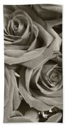 Roses On Your Wall Sepia Beach Towel