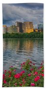 Rosslyn Virginia Sunset From Across The Potomac River Beach Towel