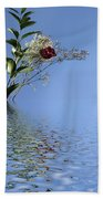 Rosy Reflection - Left Side Beach Towel