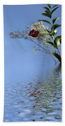 Rosy Reflection - Right Side Beach Towel