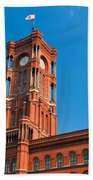 Rotes Rathaus The Town Hall Of Berlin Germany Beach Towel