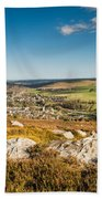 Rothbury Town From The Terraces Beach Towel