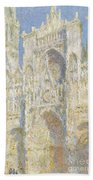 Rouen Cathedral West Facade Beach Towel