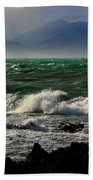 Rough Seas Kaikoura New Zealand Beach Towel