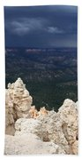 Rough Skys Over Bryce Canyon Beach Towel