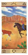 Round Up And Cattle Brands Beach Towel