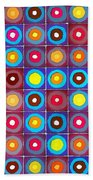 Round Up The Squares Beach Towel