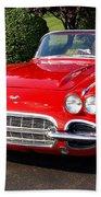 Route 66 - 1961 Corvette Beach Towel