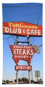 Route 66 - Cattleman's Club And Cafe Beach Towel
