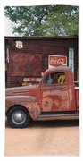 Route 66 Garage And Pickup Beach Towel