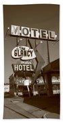 Route 66 - Glancy Motel Beach Towel