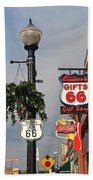 Route 66 In Williams Arizona Beach Towel