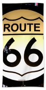 Route 66 Lighted Sign Beach Towel