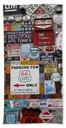 Route 66 Signs Beach Towel