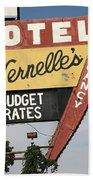 Route 66 - Vernelle's Motel Beach Towel