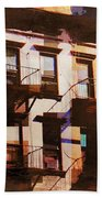 Row Houses - Old Buildings And Architecture Of New York City Beach Towel