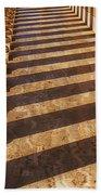 Row Of Pillars Beach Towel