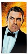 Rowan Atkinson Alias Johnny English Beach Towel
