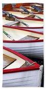 Rowboats Beach Towel by Elena Elisseeva