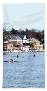 Rowing At Boathouse Row Beach Towel
