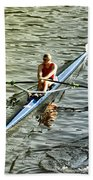 Rowing Crew Beach Towel by Bill Cannon