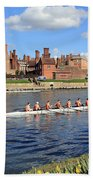Rowing On The Thames At Hampton Court Beach Towel