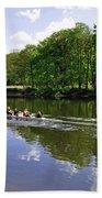 Rowing Practice - Near Branston Beach Towel