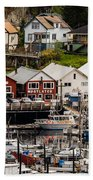 Rows Of Houses And Sails Beach Towel