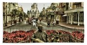 Roy And Minnie Mouse Antique Style Walt Disney World Beach Sheet