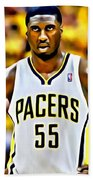 Roy Hibbert Beach Towel by Florian Rodarte