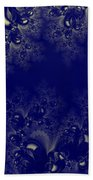 Royal Blue Frost Fractal Beach Towel