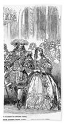 Royal Costume Ball, 1851 Beach Towel