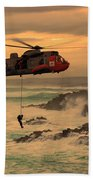 Royal Navy Rescue  Beach Towel