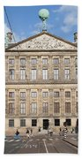 Royal Palace From Raadhuisstraat Street In Amsterdam Beach Towel