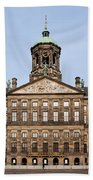 Royal Palace In Amsterdam Beach Towel