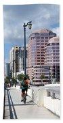 Royal Palm Way Bridge Beach Towel