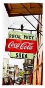 Royal Pharmacy Soda Sign Beach Towel